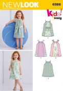 6386 New Look Pattern: Toddlers' Easy Pillowcase Dresses